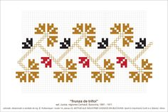 Semne Cusute: Romanian traditional motifs Folk Embroidery, Cross Stitch Embroidery, Embroidery Patterns, Knitting Patterns, Cross Stitch Borders, Sewing Crafts, Needlework, Print Design, Diy And Crafts