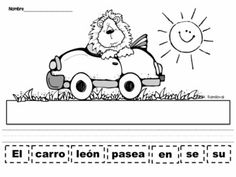 Cut and Paste Sentences Animals in Spanish