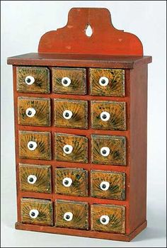 Nineteenth century Lancaster County seed box