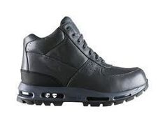 Nike Air Max Goadome ACG Mens Boots 865031-020 Nike. $109.95. Full-length visible Air-Sole Unit for the ultimate in cushioning. All-Trac outsole compound and lug pattern for maximum traction and durability. leather. Metal hardware trim for durability. Rich, waterproof, full-grain leather