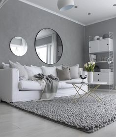 New living room grey small mirror ideas Scandinavian Design Living Room, Home Decor Bedroom, Pinterest Living Room, Living Room Decor Apartment, Living Room Scandinavian, Living Room Grey, Interior Design, Living Room Furniture, Apartment Decor