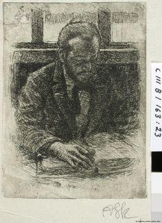 Hugo Simberg lukee,1897