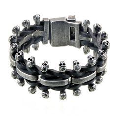 Купить мужской браслет из стали в стиле Rock в интернет магазине украшений и…