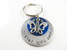 Hand stamped best mom ever keychain by jewelryandmorebykat on Etsy