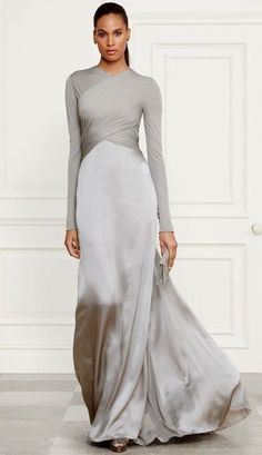 Simple and elegant. Could this be a wedding dress for the bride who is remarry.Simple and elegant. Could this be a wedding dress for the bride who is remarry. - Simple and elegant… Could this be a# Bride Trendy Dresses, Tight Dresses, Elegant Dresses, Fashion Dresses, Dresses Dresses, Dresses With Sleeves, Long Sleeve Evening Dresses, Evening Gowns, Ralph Lauren Wedding Dress