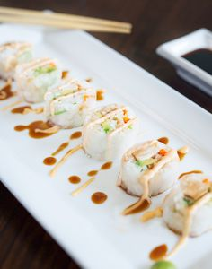 Spring-Roll-Sushi-withTeriyaki-Chicken