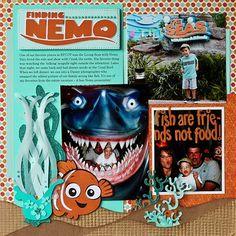 Nemo great seaweed Disney scrapbook layout... Can't wait to takey niece and nephew to Disney World!
