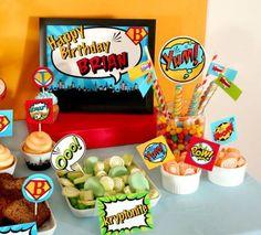 dicas de doces para festa super heróis