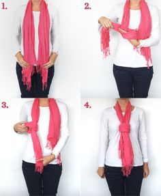 Different Scarf Styles | How to Tie Winter Scarf in 3 Different Ways | Fashion and Styles