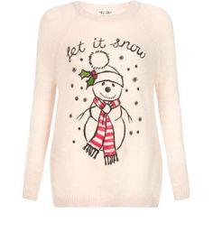 Cream (Cream) Tall Cream Let It Snow Christmas Jumper Christmas Jumper Day, Tacky Christmas, Christmas Jumpers, Christmas Sweaters, Christmas Outfits, White Christmas, Christmas Time, Merry Christmas, Womens Xmas Jumpers