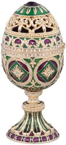 The Emerald Collection Faberge-Style Enameled Minishka Egg Design