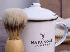 Shaving Brush, Mug and Soap Gift Set by Napa Soap Company