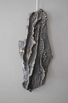 grey ceramic coral art