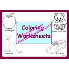 Coloring Worksheets- 10 colors