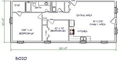 20 X 40 House Plans 20x40 house plans 1 bedroom 50x80 house plans ~ home plan and