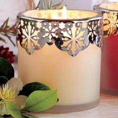 White Tea and Fir Holiday Scented Candle by PartyLite - just $10 (Reg 25.00) while supplies last!