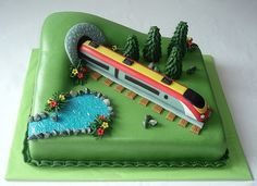 Pendolino Trains Birthday Party, Birthday Cakes For Men, Cakes For Boys, Bolo Lego, Thomas Cakes, Cake Design Inspiration, Dad Cake, Retirement Cakes, Cake Craft