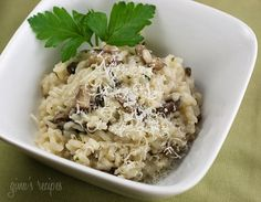 Skinnytaste Mushroom Risotto-I had never made risotto before but this recipe was easy and delish!