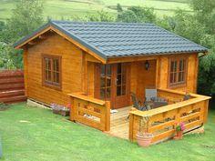 Log Cabins Scotland, the Davidson / Utah cabin in the Scottish Borders