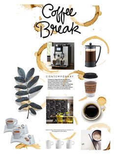 """COFFEE BREAK"" by ljdia on Polyvore featuring interior, interiors, interior design, Casa, home decor, interior decorating, Puebco, Bodum, Crate and Barrel e Graham & Brown"