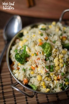 Healthy Vegetable Fried Rice is great as a meal or a side, flexible, delicious… and well, not fried. This healthy rice dish makes some healthy substitutions to keep your favorite Vegetable Fried Rice Recipe on the menu.   via /wholefoodrealfa/