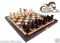 """Superb """"royal #maxi"""" matt finish #wooden chess set 31 x 31cm! hand crafted #piece,  View more on the LINK: http://www.zeppy.io/product/gb/2/141795491061/"""