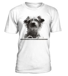 """Portrait of a cute Terrier Mix Dog -Funny T-shirt Unisex HOW TO ORDER? 1. Select style and color 2. Click """"""""Buy It Now"""""""" 3. Select size and quantity 4. Enter shipping and billing information 5. Done! TIP: SHARE it with your friends, order together and save money on shipping."""