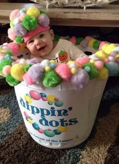 Dippin' Dots Costume....these are the BEST Homemade Costume Ideas for Babies & Kids! Diy Baby Halloween Costumes, Halloween School Treats, Easy Halloween, Costume Ideas, Halloween Party, Halloween Stuff, Halloween Outfits, Hollween Costumes, Homemade Costumes For Kids