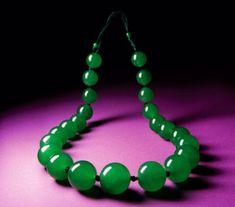 Imperial jadeite jade necklace