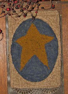 Petite Prims Series Prim Star Hooked Rug Pattern | eBay
