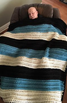 Ever hear of a weighted blanket to cure insomnia!!?? I made one for my husband out of Bernat Mega Bulky and it really worked! This yarn is heavy and thick, yet super soft, and worked perfectly! It put him to sleep and may even reduce his restless leg syndrome! No need to add anything else to the weight from my experience.