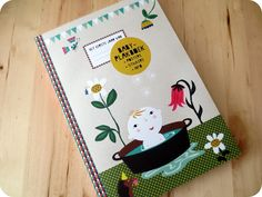 Baby scrap book - with beautiful illustrations from Caroline Ellerbeck