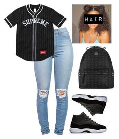 """blac"" by gurldaya on Polyvore featuring MCM"