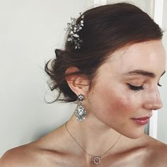 C+I's Juliet Statement Hair Pin ($68) this enchanting hair pin offers a sweet touch of romance with sparkling Swarovski gray opal crystal set in delicate, hand-wrapped wire