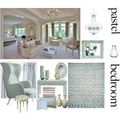A Sweet Pastel Bedroom-aqua mint Pastel Bedroom, Bedroom Styles, Aqua, Mint, Interior Design, Heart, Sweet, Polyvore, Home