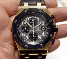 Audemars Piguet Royal Oak OFFSHORE Chronograph 18K Rose Gold 44MM w/box | eBay