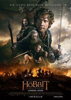 Der Hobbit: Die Schlacht der Fünf Heere finales deutsches Poster