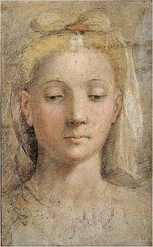 Federico Barocci. Cabeza femenina, dibujo - Wikipedia, la enciclopedia libre