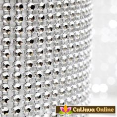 Silver Glam Ribbons add bling to any cake instantly. Very easy to trip & apply. Just wrap it around the cake & you're done. #caljava #fondx