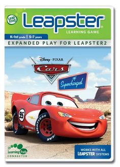 "LeapFrog Leapster Cars Supercharged Learning Game - [gallery] Answer reading and spelling questions to tune up for the Radiator Springs Invitational Race! Zip around cacti and tumbleweeds as you bump the cars with the right plural ending. Catch up to Mack by honking at motor homes with the right letters. There are lots of obstacles to overcome when driving through the forest, but you can put your car on the fast track by choosing the correct answer. [amz_corss_sell asin=""B000"