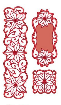 Creative Expressions Sue Wilson Die -Festive Collection Poinsettia Corner, Border, and Tag by PNWCrafts on Etsy