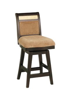 $135 polyester . Armen Living B385 26-Inch Counter High Swivel Barstool with Beige Chenille Fabric