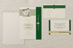 Flat Rectangle Wedding Invitations - Celtic Wedding