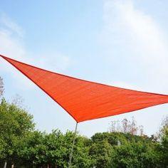 toldo vela sombrilla parasol triangulo hdpe gm jardin playa camping sombra color rojo