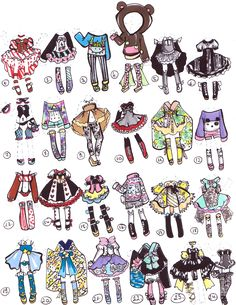 CLOSED-Adoptable outfits by Guppie-Adopts on deviantART