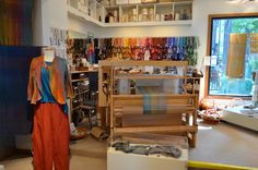 Studio - Silk Weaving Studio. Drool.