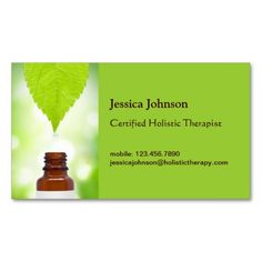 alternative medicine and natural therapy business cards on