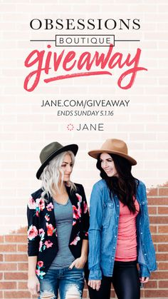 Enter the Jane #Sweepstakes  for a chance to win up to $250 of Obsessions Boutique store credit! Ends 5/1.