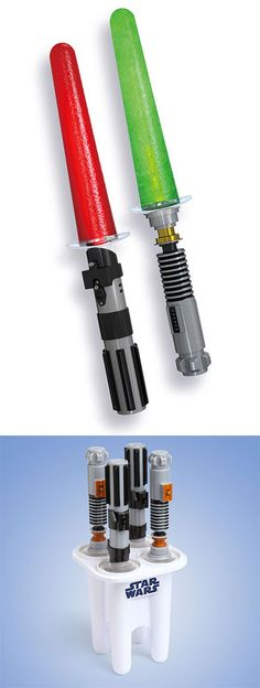 geeky kitchen Lightsaber popsicle maker I need this... And all the other stuff on this page