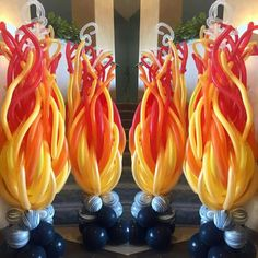 FUEGO-DECORACIÓN-Balloon Art - Fire